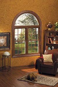 Wood Finish Windows Dome Transom