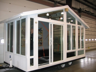 Sunroom Trailer Display Trade Show