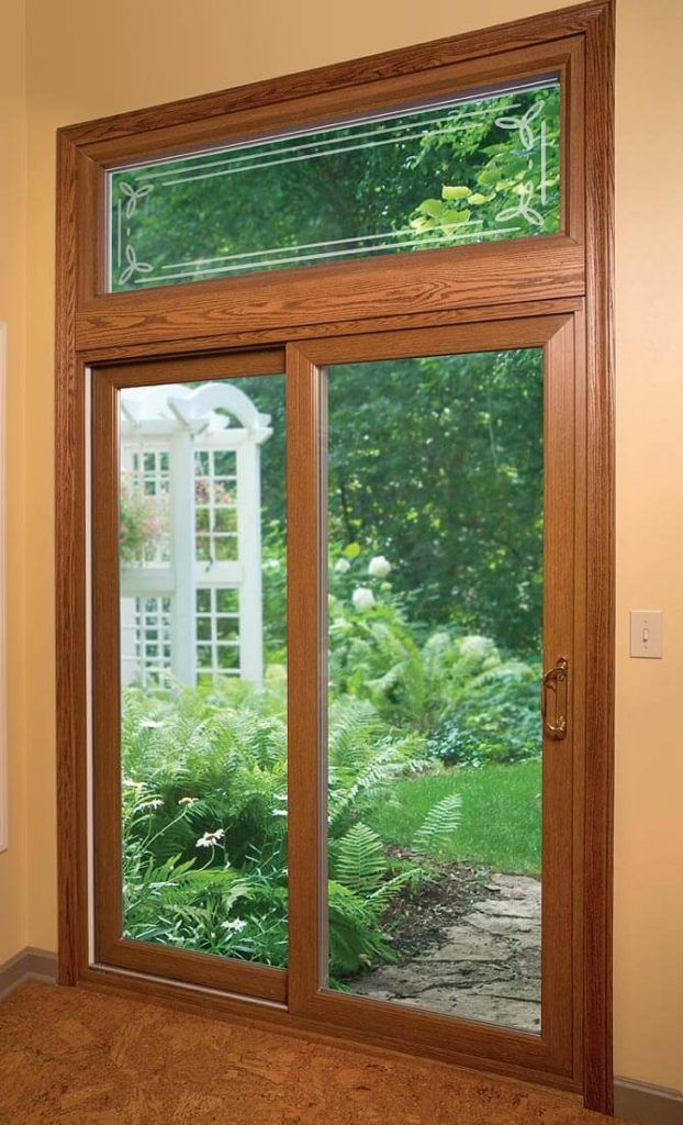 Joyce Mfg Patio Door Wood Finish
